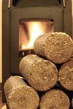 Wood briquettes Royalty Free Stock Photo