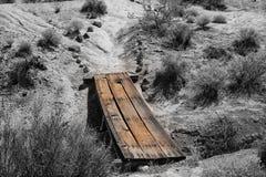 Wood bro över gullyen Fotografering för Bildbyråer