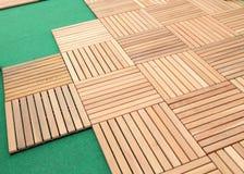 Wood brown block plank Royalty Free Stock Photos