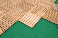Wood brown block plank Stock Image