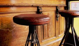 Wood, Brown, Old, Bar, Stool Royalty Free Stock Photography
