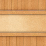Wood on brown paper Stock Images