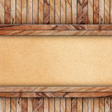 Wood on brown paper Stock Image