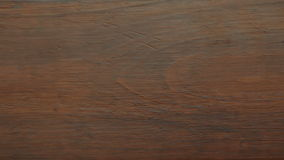 Wood. Brown wooden plank as background texture stock video