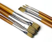 Wood brush 03. Group of brushes Stock Photo