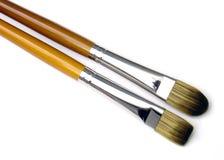 Wood brush 04. Two brushes Stock Photography