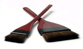 Wood brush 06. Two brushes Stock Photo