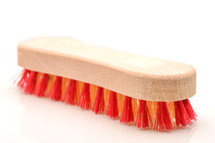 Wood Brush. Wood cleaning brush on white background Royalty Free Stock Image