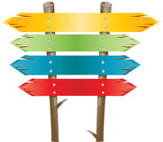 Wood Btn. Wooden arrows easy to resize or change color Stock Photos