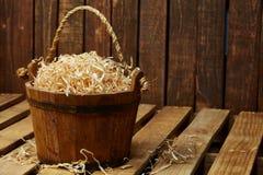 Wood bucket Stock Images
