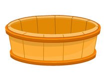 Wood bucket isolated illustration Royalty Free Stock Image