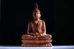 Wood Buddha Stock Image