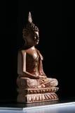 Wood Buddha Royalty Free Stock Photography