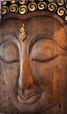 Wood of Buddha Face Royalty Free Stock Photos