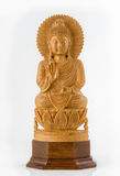 Wood Buddha Statue. Royalty Free Stock Images