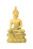 Wood buddha statue on a white. Stock Photography