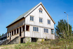 Wood building 1 at Høytorp fort Royalty Free Stock Images