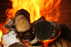 Wood burning Royalty Free Stock Image