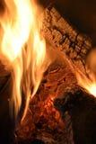 Wood burning Stock Photo