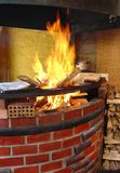 Wood Burning Oven. A wood burning oven in a resturant in Peru Royalty Free Stock Image