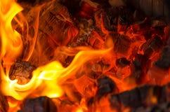 Wood burning Royalty Free Stock Image