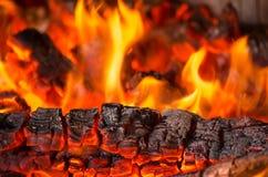 Wood burning Stock Image
