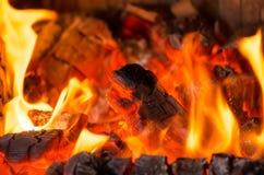 Wood burning Royalty Free Stock Photo