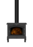 Wood Burning Stove. Royalty Free Stock Photo