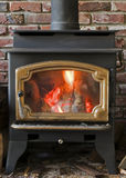 Wood Burning Stove Royalty Free Stock Images