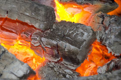 Wood burning in the stove Royalty Free Stock Photos