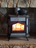 Wood burning stove. Wood burning stove to heat your home Royalty Free Stock Photo