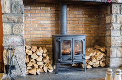 Wood Burning Stove Royalty Free Stock Photography