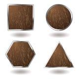 Wood button variation stock illustration