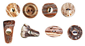 Wood buttons Stock Photography