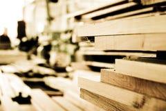wood byggnadsplankor Arkivfoto