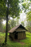 Wood cabin in the forest Stock Photography