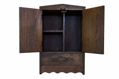 Wood cabinet Royalty Free Stock Photography