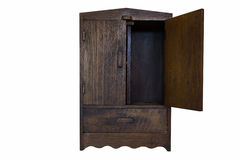 Wood cabinet Royalty Free Stock Image