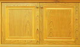Wood cabinet doors Royalty Free Stock Photo