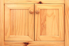 Wood cabinets Stock Photography