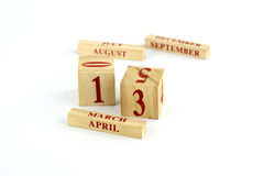 Wood calender Royalty Free Stock Image