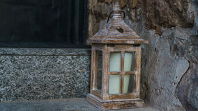 Wood Candle Box. With a Candle and a Heart royalty free stock photography