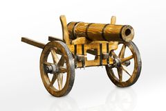 Wood cannon Royalty Free Stock Photo