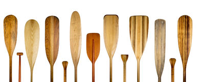 Wood canoe paddles abstract banner stock images