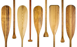 Wood canoe paddles abstract Stock Photo