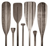 Wood canoe paddles abstract Royalty Free Stock Photo
