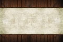 Wood and Canvas Royalty Free Stock Photography
