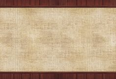 Wood and Canvas Background Stock Photography
