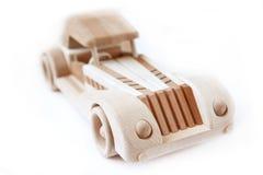 Wood car. The retro handmaid wood car Stock Photo