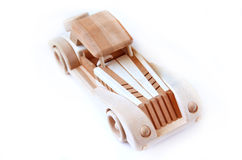 Wood car. The retro handmaid wood car Royalty Free Stock Images